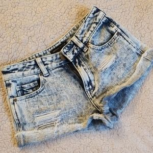 Kendall & Kylie Distressed Shorts